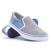 Купить Слипоны Quiksilver Foundation Black/Blue/Grey 1028031